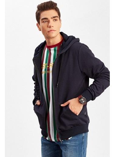 Manche Sweatshirt Lacivert